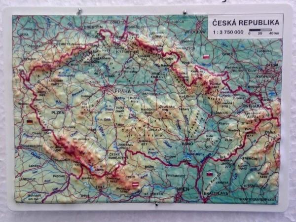 Plasticke Mapove Pohlednice Kartografie