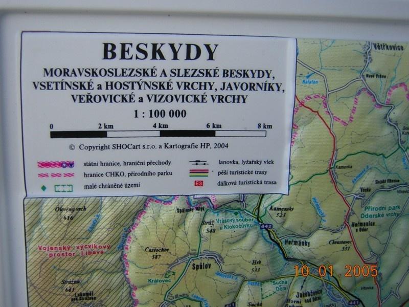 Beskydy Plasticka 1 100000 Kartografie